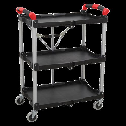 Folding Workshop Trolley 3-Level - Sealey - CX314