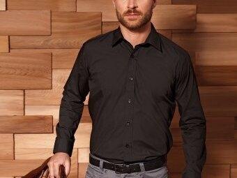PR204 Premier Long Sleeve Fitted Poplin Shirt