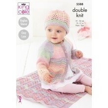 Matinee Coat, Cardigan & Hat Pattern 5588