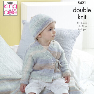 Cardigan, Hat & Blanket Pattern 5421