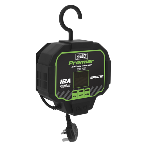 Battery Charger 12A Fully Automatic - Sealey - SPBC12