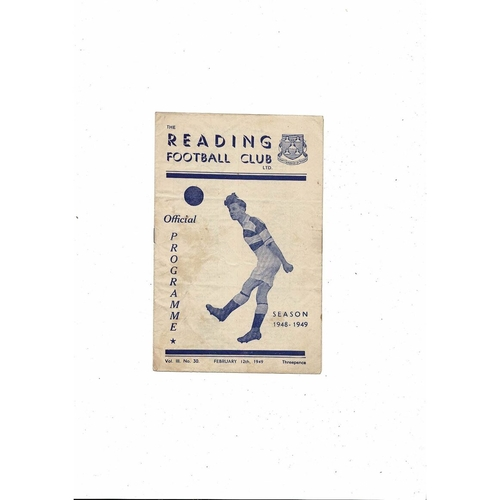 1948/49 Reading v Leyton Orient Football Programme