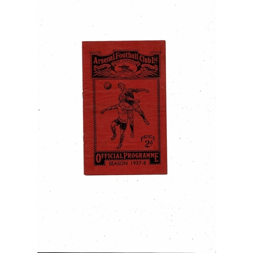 1937/38 Arsenal v Grimsby Town Football Programme