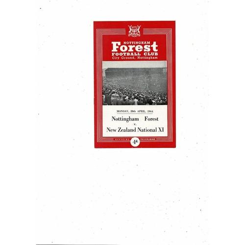 Nottingham Forest v New Zealand Friendly Football Programme 1963/64
