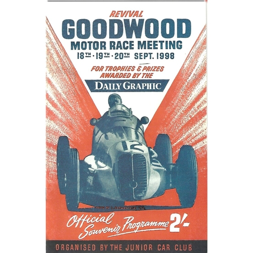 1998 Goodwood Motor Circuit Revival Programme, Brochure & Motor Sport Goodwood Revival Supplement