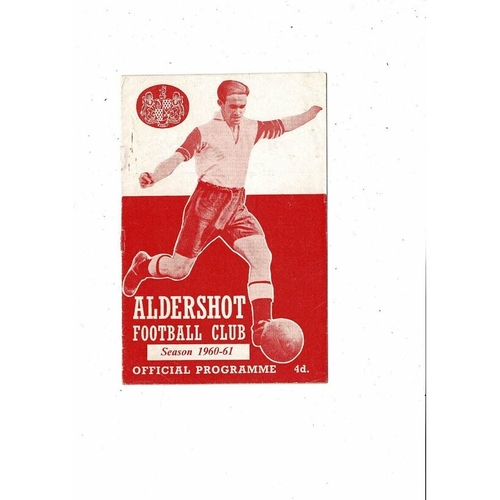 1960/61 Aldershot v Rochdale Football Programme