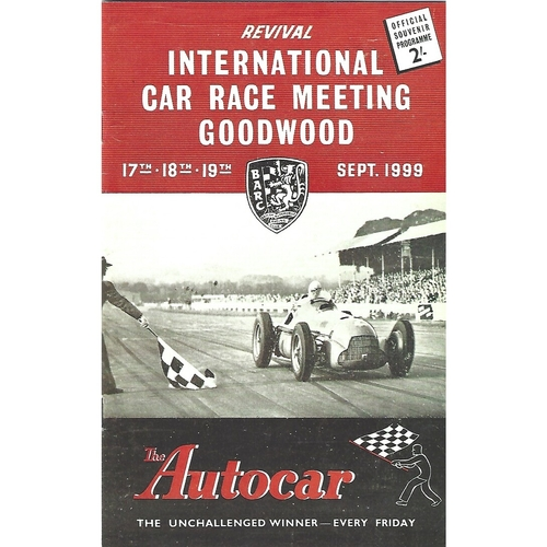 1999 Goodwood Motor Circuit Revival Programme & Brochure