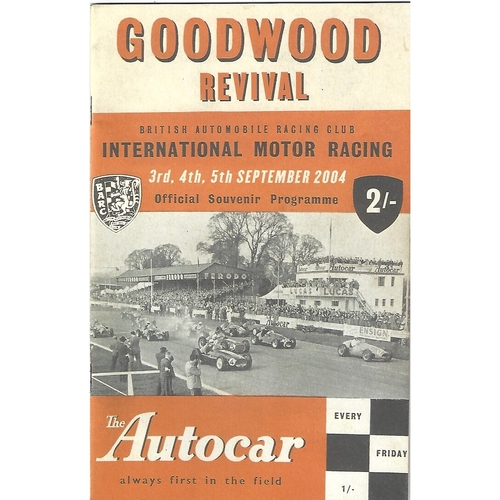 2004 Goodwood Motor Circuit Revival Programme & Brochure