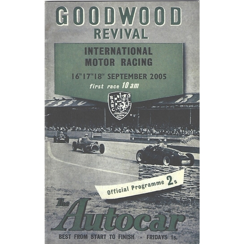 2005 Goodwood Motor Circuit Revival Programme & Brochure