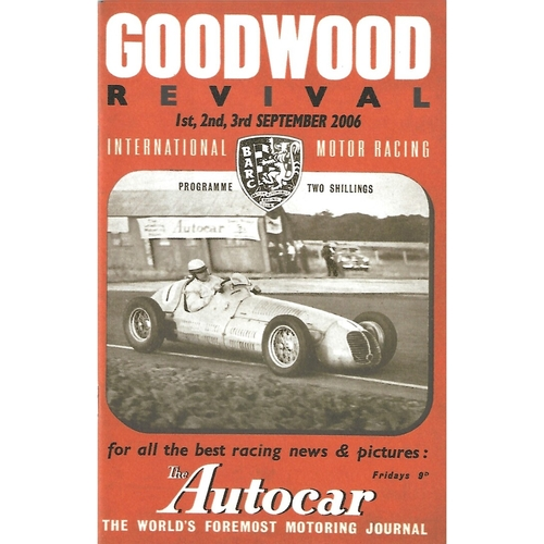 2006 Goodwood Motor Circuit Revival Programme & Brochure