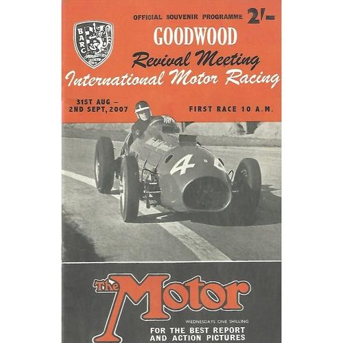 2007 Goodwood Motor Circuit Revival Programme & Brochure