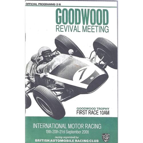 2008 Goodwood Motor Circuit Revival Programme & Brochure