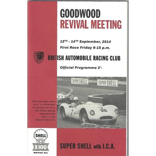 Goodwood Motor Racing Programmes