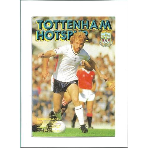 1980/81 Tottenham Hotspur v Birmingham City Football Programme