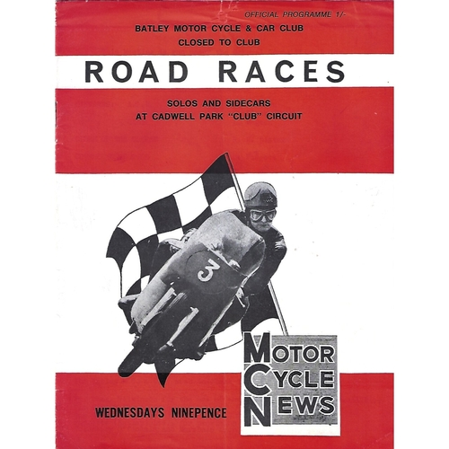 1960's Cadwell Park Batley Motor Cycle & Car Club Road Race Meeting (Date Unknown) Motor Cycle Racing Programme