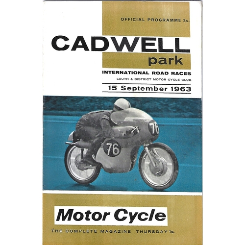 1963 Cadwell Park Lough & District Motor Cycle Club International Road Race Meeting (15/09/1963) Motor Cycle Racing Programme