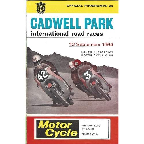 1964 Cadwell Park Lough & District Motor Cycle Club International Road Race Meeting (13/09/1964) Motor Cycle Racing Programme