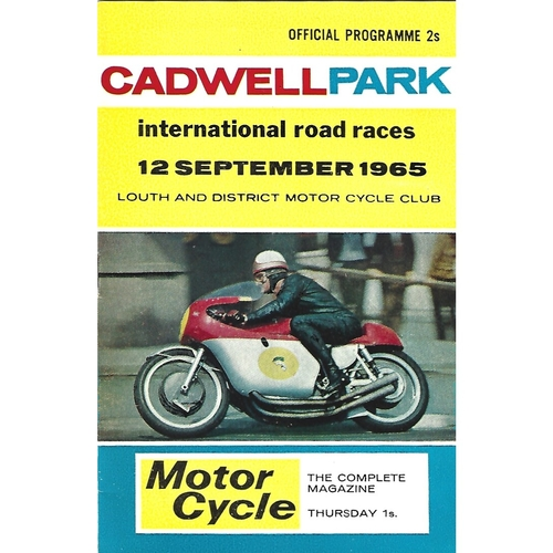 1965 Cadwell Park Lough & District Motor Cycle Club International Road Race Meeting (12/09/1965) Motor Cycle Racing Programme