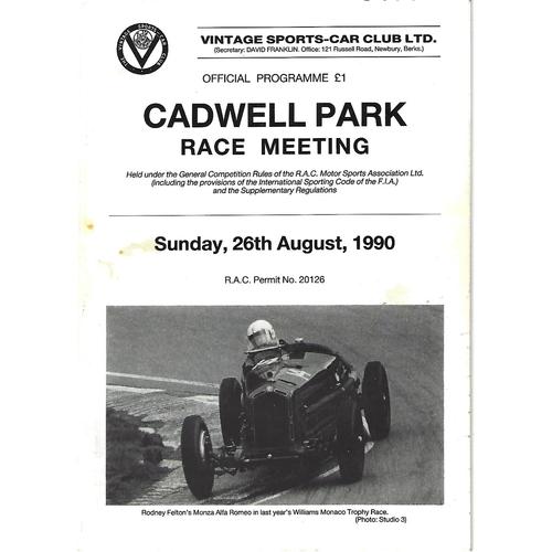 Cadwell Park Motor Racing/Motor Cycle Racing Programmes