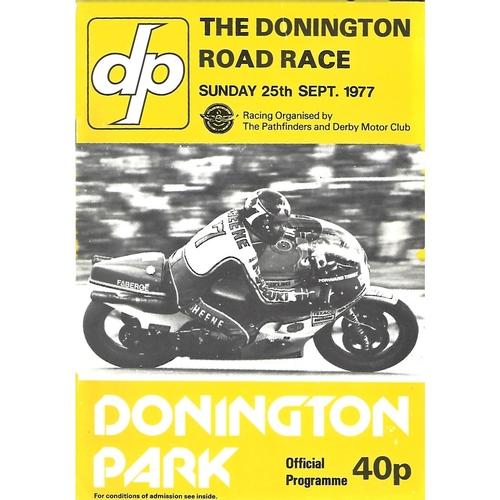 Donnington Park Motor Racing/Motor Cycle Racing Programmes