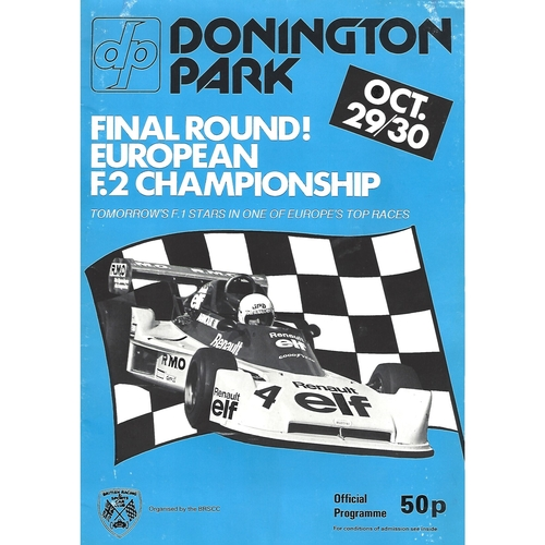 1977 Donnington Park European F2 Championship Meeting (29-30/10/1977) Motor Racing Programme