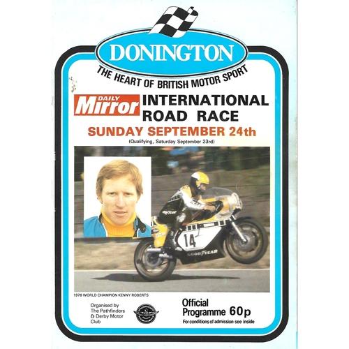1978 Donnington Park International Road Race Meeting (24/09/1978) Motor Cycle Racing Programme