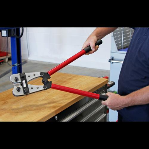 Copper Lug Terminal Crimping Tool 10-120mm² - Sealey - AK120B