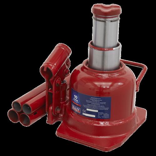 Bottle Jack 10tonne Low Entry Telescopic - Sealey - BJ10LE