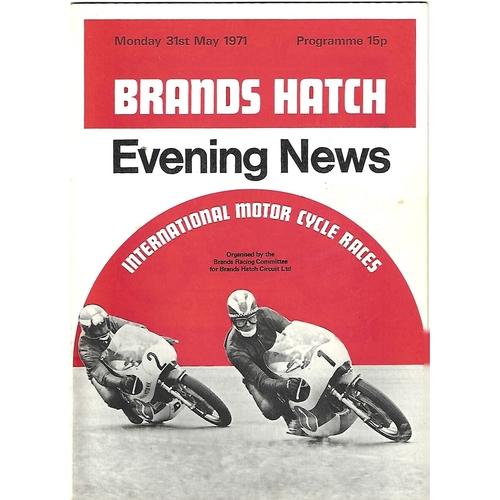 1971 Brands Hatch International Motor Cycle Racing Meeting (31/05/1971) Motor Cycle Racing Programme