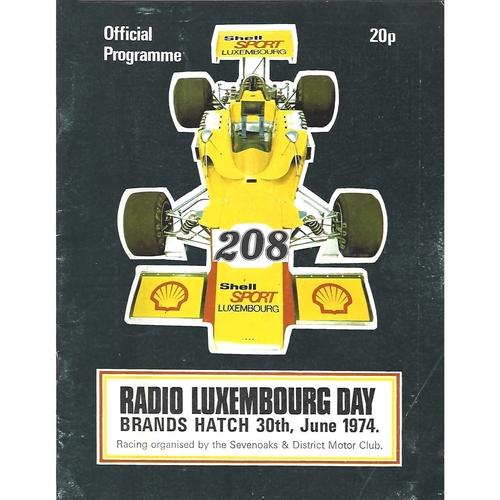 1974 Brands Hatch Radio Luxembourg Day Meeting (30/06/1974) Motor Racing Programme