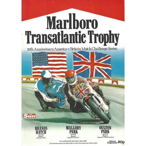 1980 Brands Hatch Transatlantic Trophy Races Meeting (04/04/1980) Motor Cycle Racing Programme