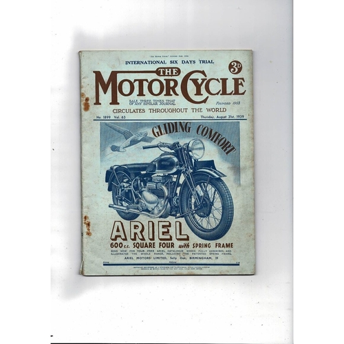 1939 The Motor Cycle Magazine 31st August Vol 63 No 1899