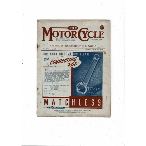1942 The Motor Cycle Magazine 6th August Vol 69 No 2052