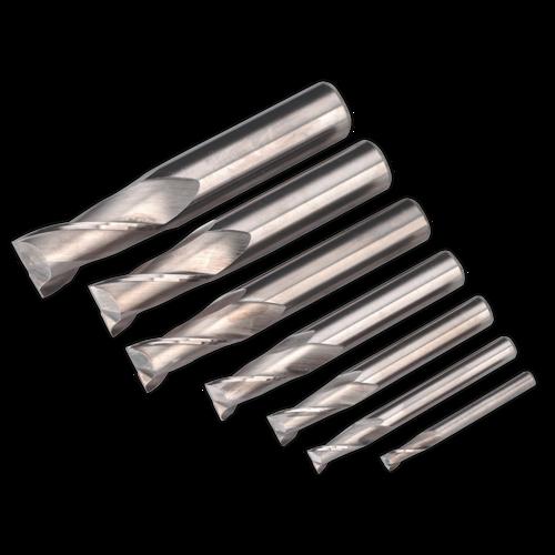 HSS End Mill Set Ø4-16mm 2 Flute - Sealey - SM2502EMSET