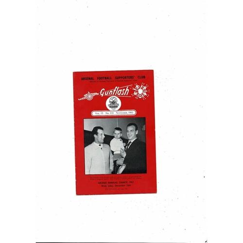 Arsenal Gunflash Vol 13 No. 133 November 1961