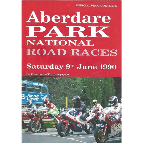 1990 Aberdare Park National Road Race Meeting (09/06/1990) Motor Cycle Racing Programme