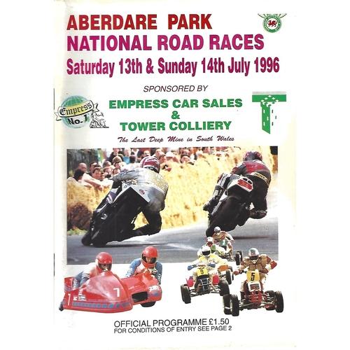 Aberdare Park Motor Cycle Racing Programmes