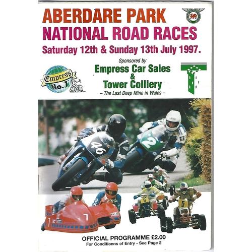 1997 Aberdare Park National Motorcycle Road Race Meeting (12-13/07/1997) Motor Cycle Racing Programme