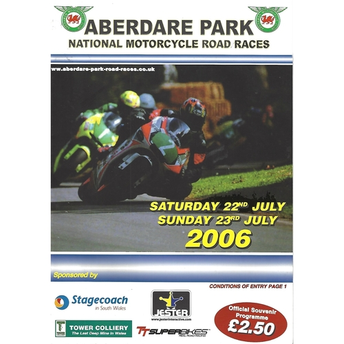 2006 Aberdare Park National Motorcycle Road Race Meeting (22-23/07/2006) Motor Cycle Racing Programme