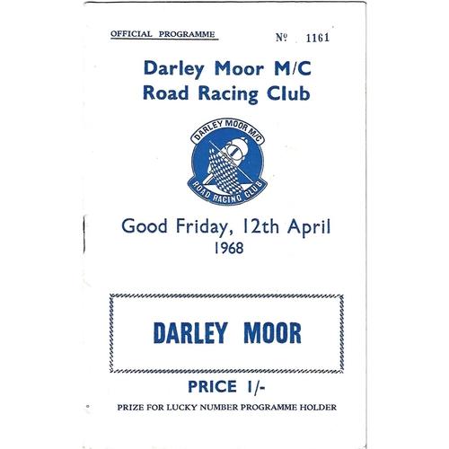 1968 Darley Moor Motor Cycle Road Racing Club Meeting (12/04/1968) Motor Cycle Racing Programme