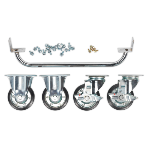 Industrial Handle & Wheel Kit for 565mm Cabinets - Sealey - API565KIT