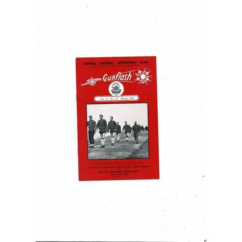 Arsenal Gunflash Vol 13 No. 137 March 1962