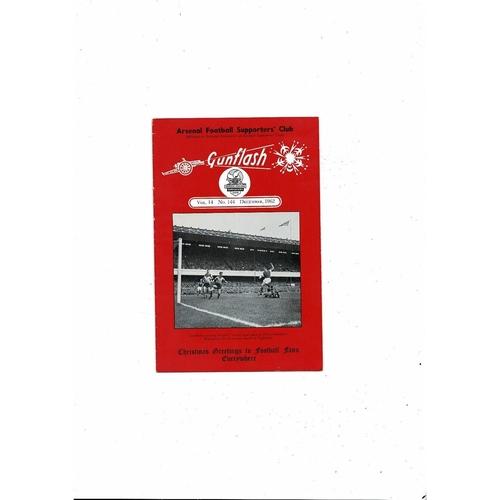 Arsenal Gunflash Vol 14 No. 144 December 1962