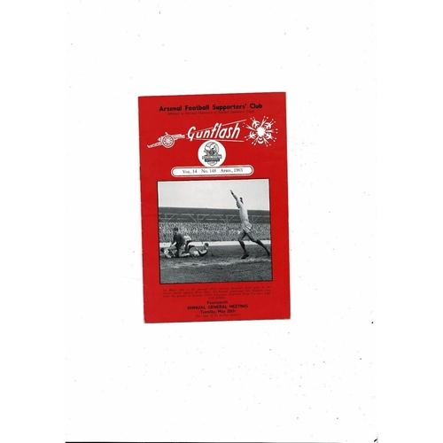 Arsenal Gunflash Vol 14 No. 148 April 1963