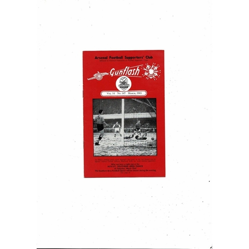 Arsenal Gunflash Vol 14 No. 147 March 1963