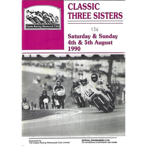 1990 Three Sisters Classic Race Meeting (04-05/08/1990) Motor Cycle Racing Programme
