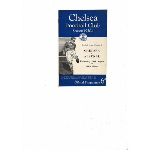 1950/51 Chelsea v Arsenal Football Programme
