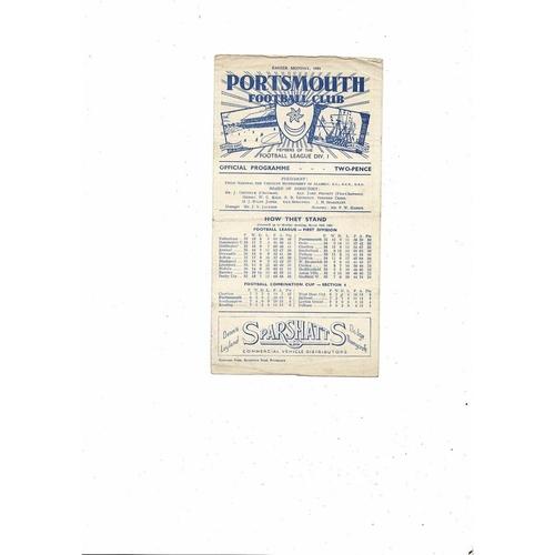1950/51 Portsmouth v Arsenal Football Programme