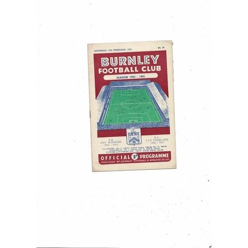 1954/55 Burnley v Arsenal Football Programme