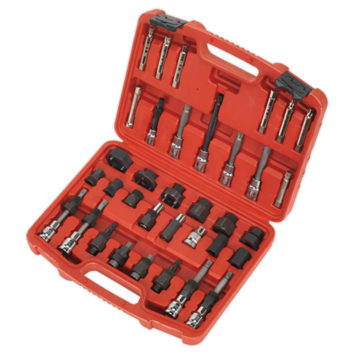 Alternator Freewheel Pulley Removal Set 35pc - Sealey - SX404